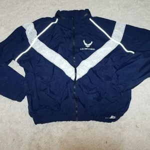 U.S. Air Force thick wimdbreaker zip up jacket Med